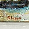 Birger birger-ericson, olja på pannå, signerad birger.