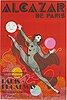 ErtÉ, a vintage poster,  'alcazar de paris', ets st martin imp, paris, france, circa 1970.