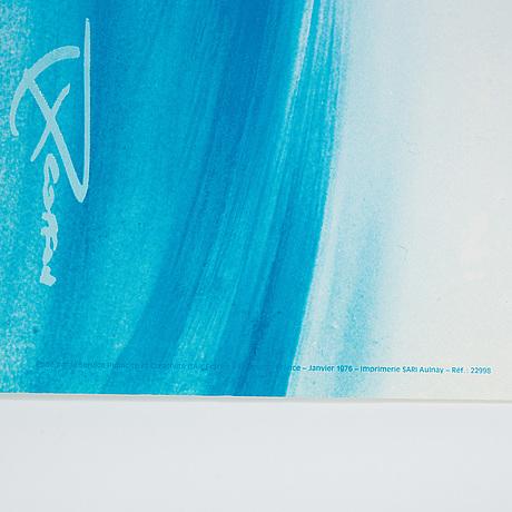 A vintage poster, 'concorde air france', imprimerie sari alunay, france, 1976.