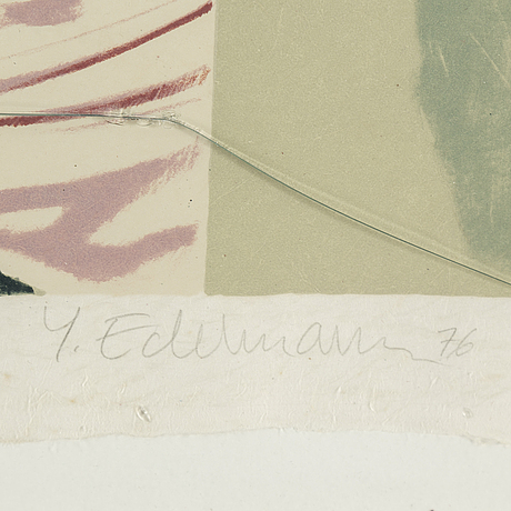YrjÖ edelmann, lithograph in colours, 1976, signed 70/125.