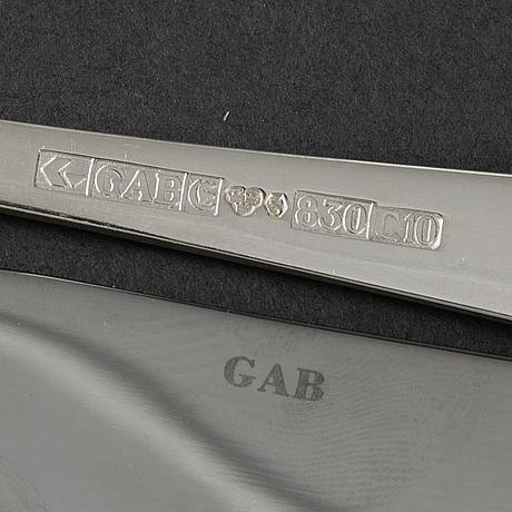 Jacob Ängman, 32 psc silver cutlery 'rosenholm'. gab, stockholm.