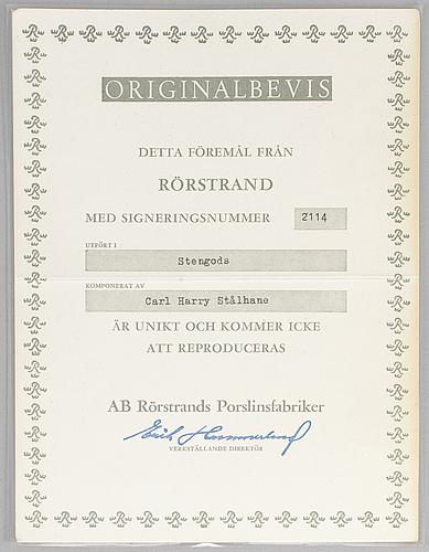 Carl-harry stÅlhane, skål, stengods, rörstrand 1960-tal, unik.