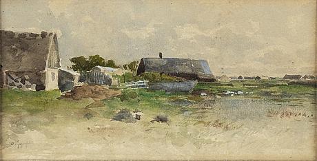 Wilhelm von gegerfelt, watercolor, signed.
