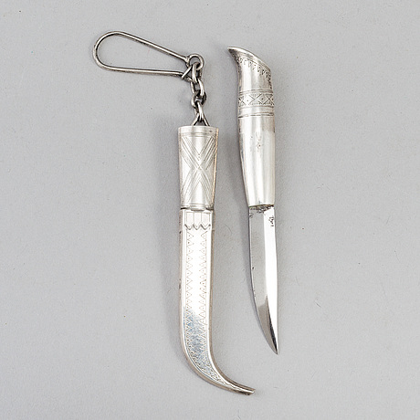 A finnish silver miniature knife, 1910.