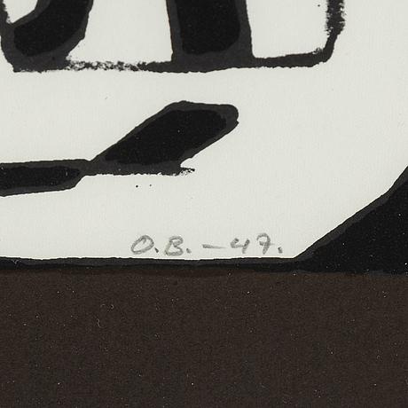 Olle bonniÉr, litografi, signerad och numrerad 45/50, daterad -47.