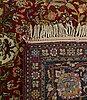 An antique isfahan carpet ca 225 x 138 cm.