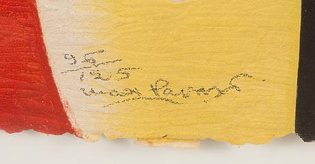 Max papart, carborundum and kollaasi, numeroitu 96/250.