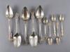 Mat- resp. teskedar, 5+5. silver, 1700/1800-tal.