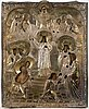 A russian icon dated 1877 st. petersburg.