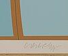 Victor vasarely, färglitografi, signerad och numrerad 176 / 300.