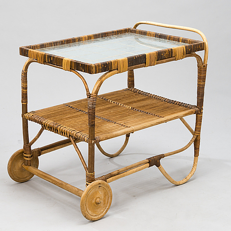A rattan the trolly from mid 20th century.