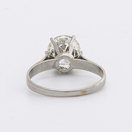 Ring 18k whitegold  brilliant-cut diamond approx 1,7 ct approx h-i vs.