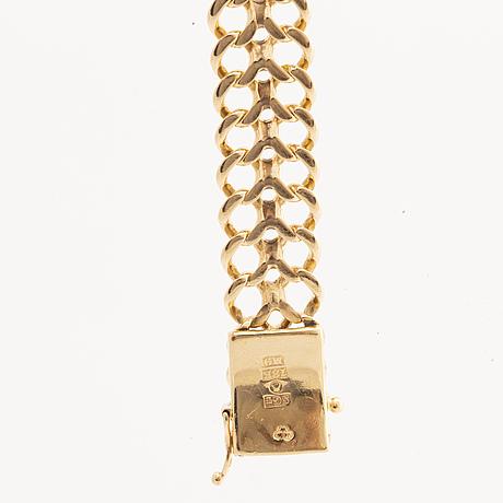 Armband 18k guld,  fiskbenslänk 25,6 g.