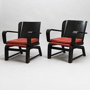 CARL-JOHAN BOMAN, A pair of early 1930's 'Flexible chairs' for N. Bomanin Höyrypuusepäntehdas, Turku.