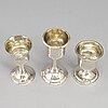 Three swedish 18th/19th century silver cups, mark of.