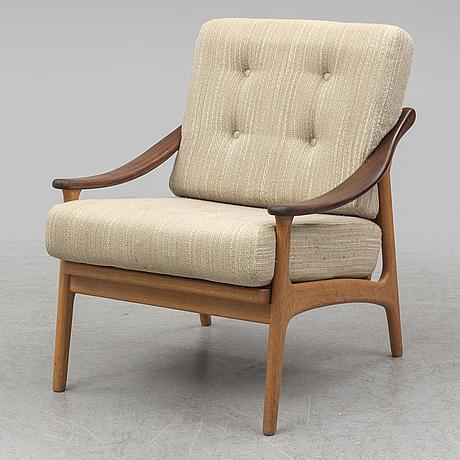 A danish oak and teak easy chair, 1960's.