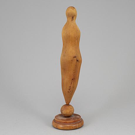 Jan naliwajko, skulptur, trä, signerad.