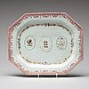 A pair of famille rose armorial dishes, qing dynasty, qianlong (1736-95).