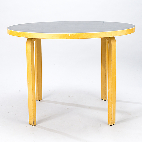 Alvar aalto, a mid-20th-century '90a' table for artek.