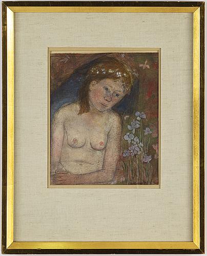 Birger ljungquist, akvarell, signerad.