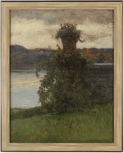 Oscar bjÖrck, oil on canvas, signed.