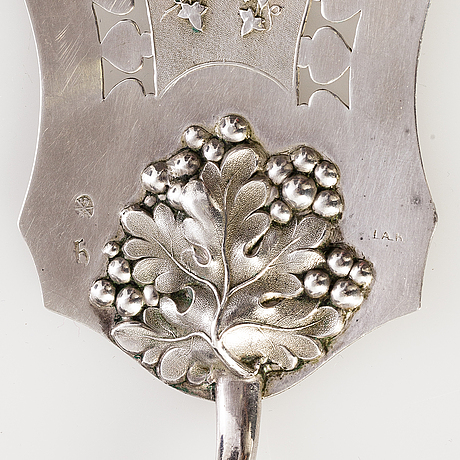 A chest of mainly russian silverware, 60 pcs, also sazikov and ovchinnikov. 19th century.