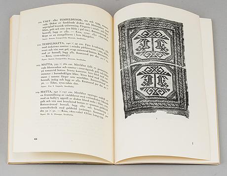 """Mattlitteratur, 15 vol b.la.  """"orientaliska mattor idag"""", nicolas fokker, 1900-tal."""