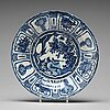 A blue and white kraak dish, ming dynasty, wanli (1572-1620).