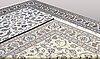A carpet, nain part silk, s.k 9 laa, ca 396 x 290 cm.