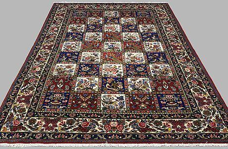 A carpet, figural bakhtiari, ca 307 x 201 cm.