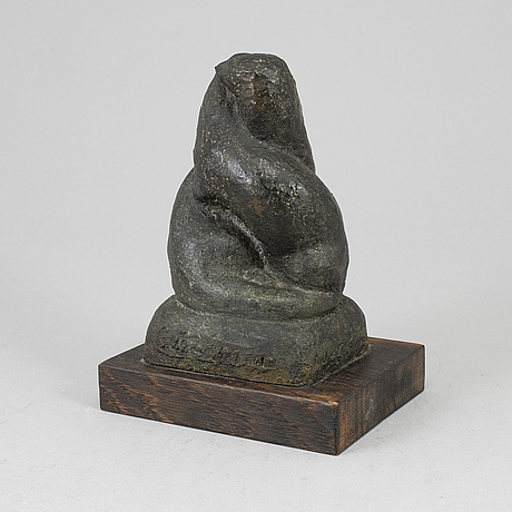 Georg ganmar, sculpture, bronze, signed, dated 1955 and numbered 1/14.