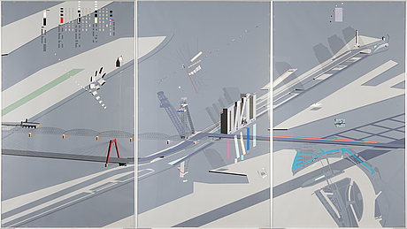 Remkoolhaas,serigraph, not signed, numbered 200121.