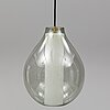 A glass ceiling light, second half of the 20th century.