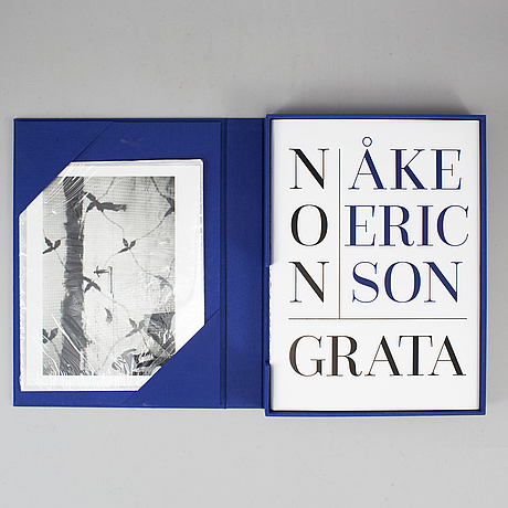 Åke ericson, limited edition photobook and a gelatin silver print, signed and numbered 7/12.