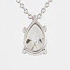 Pear shaped diamond necklace.