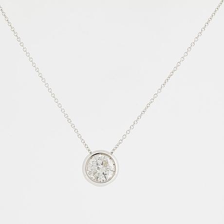 Halsband, med briljantslipad diamant 1,02 ct.