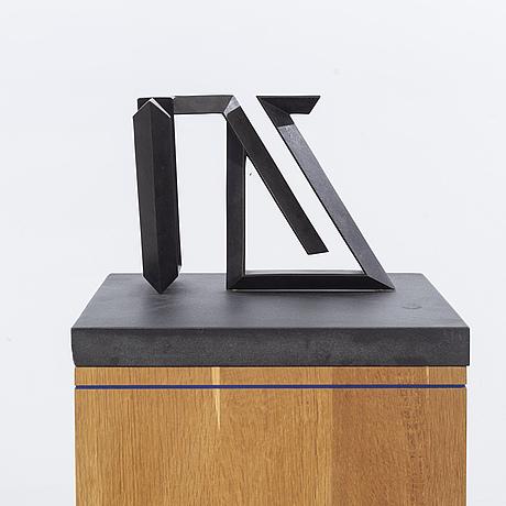 """Carl magnus, skulptur, brons, """"pavane ii"""", signerad och daterad -87, numrerad 6/6."""