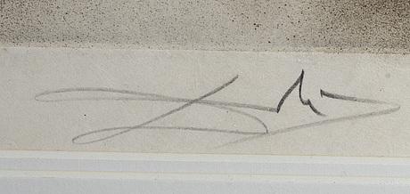 """Salvador dali, etsning, ur """"faust"""", signerad och numrerad 53/95."""