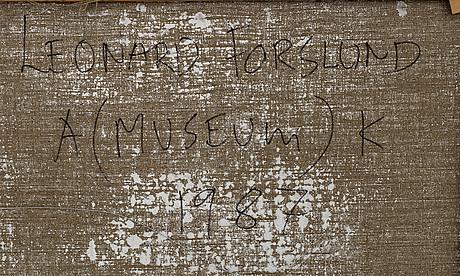 Leonard forslund, blandteknik, signerad och daterad -87 a tergo.