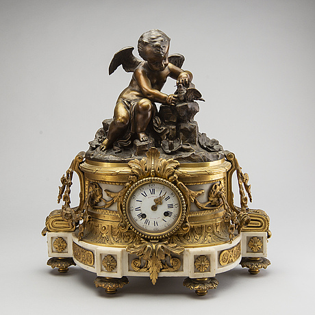 A lois xvi-style pedulum clock later part of the 19th century.