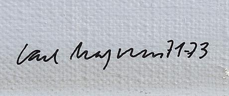 Carl magnus, olja på duk, signerad och daterad 1971-73.