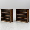 A pair of 1930s book shelves.