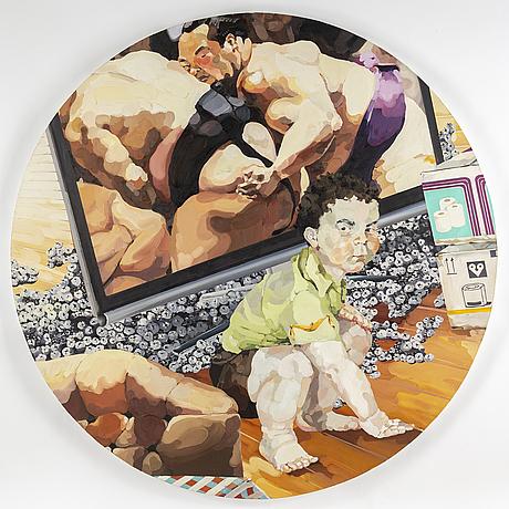 Tomoko atsuchi, oil on canvas/panel.