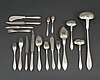 154 psc silver cutlery, gab stockholm, mostly 1911-12, in oak case.