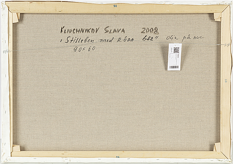 Vjeteslav kliuchnikov, olja på duk, signerad. daterad 2008 a tergo.
