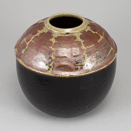 Hertha bengtsson, a unique stoneware vase, rörstrand, sweden 1964.