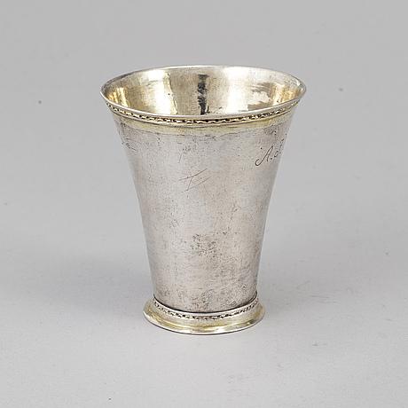 M simons, bägare, silver, piteå (1756-59).