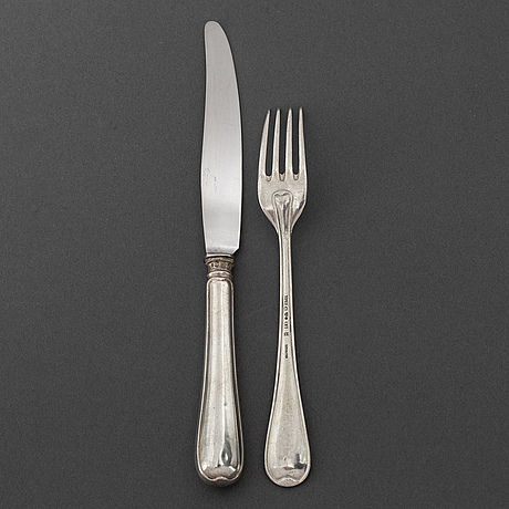 12+12 psc silver cutlery, some gab stockholm 1950.