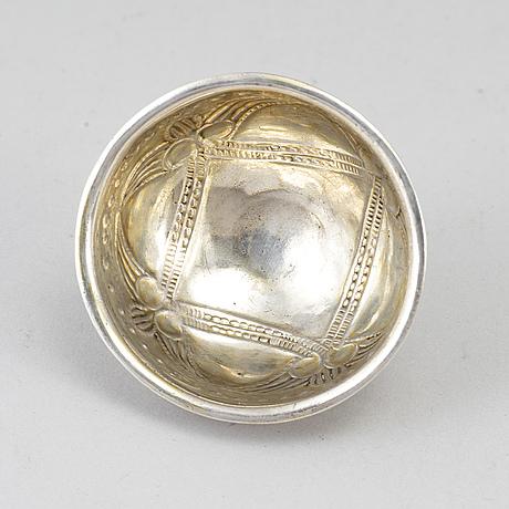 Erik wibeck, a silver tumbler, silver, borås 1745.