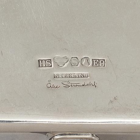Åke strÖmdahl, a sterling silver bowl with handle, hugo strömdahl stockholm 1955.